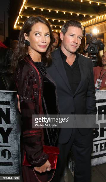Christy Turlington and Ed Burns attending the opening night performance for 'Springsteen on Broadway' at The Walter Kerr Theatre on October 12 2017...