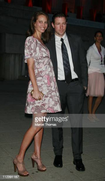 Christy Turlington and Edward Burns during Vanity Fair Hosts The Sixth Annual Tribeca Film Festival Opening Night Party April 24 2007 at New York...