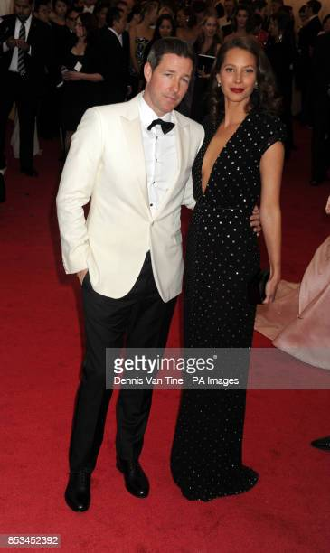 Christy Turlington and guest arriving at the Met Gala event at the Metropolitan Museum of Art in New York USA