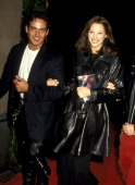 Christy Turlington and Guest during 'Versace Signatures' Opens Exhibition of Designers' 15 Year Career at Fashion Institute in New York City New York...