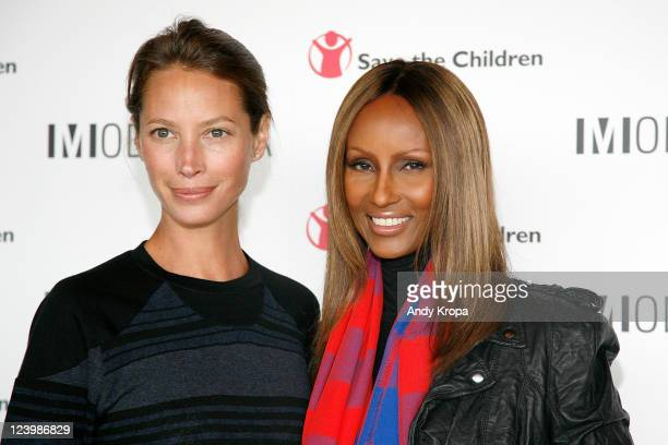 Christy Turlington and Iman attend the Modelinia Beautiful Friends Forever Bracelet launch at the Dream Hotel on September 7 2011 in New York City