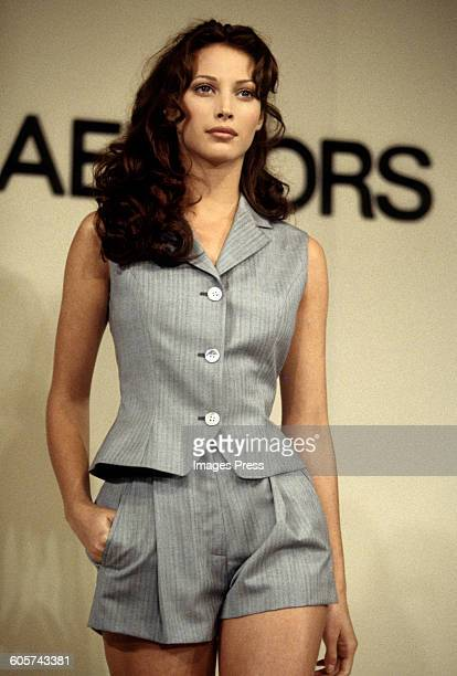 Christy Turlington at the Michael Kors Spring 1993 show circa 1992 in New York City