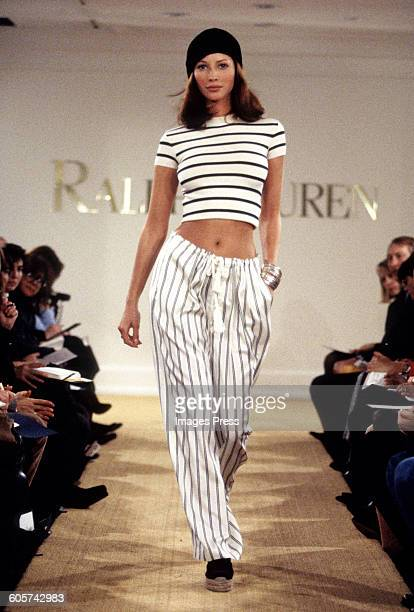 Christy Turlington at the Ralph Lauren Spring 1993 show circa 1992 in New York City