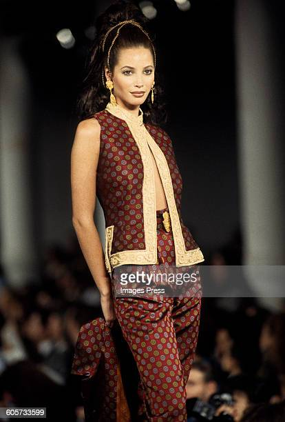 Christy Turlington at the Todd Oldham Fall 1993 show circa 1993 in New York City