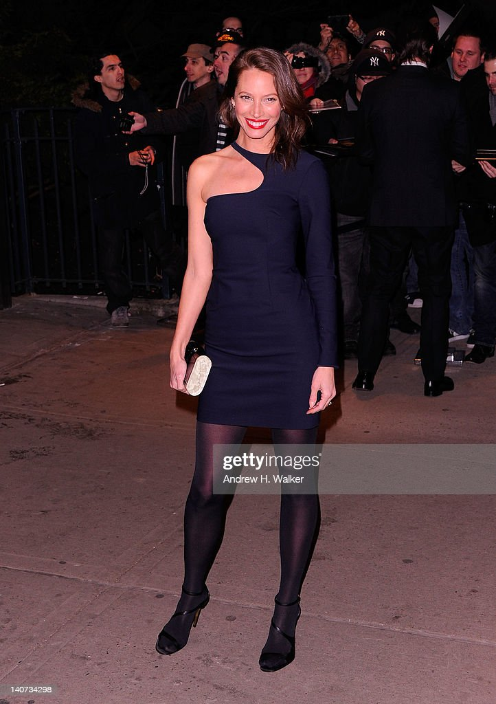 Christy Turlington attends the Cinema Society & People StyleWatch with Grey Goose screening of 'Friends With Kids' at the SVA Theater on March 5, 2012 in New York City.