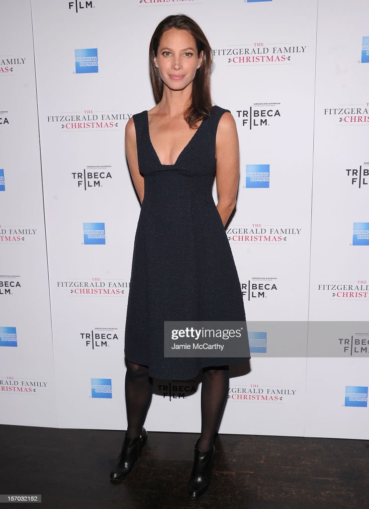 Christy Turlington attends the Tribeca Film's Special New York Screening Of 'The Fitzgerald Family Christmas' at the Tribeca Grand Hotel on November 27, 2012 in New York City.