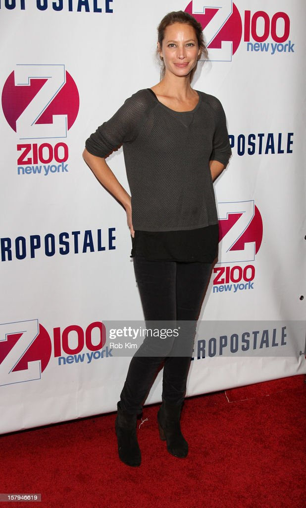 Christy Turlington attends Z100's Jingle Ball 2012 presented by Aeropostale at Madison Square Garden on December 7, 2012 in New York City.