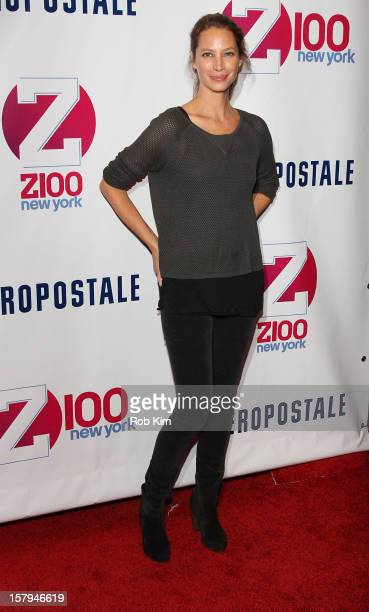 Christy Turlington attends Z100's Jingle Ball 2012 presented by Aeropostale at Madison Square Garden on December 7 2012 in New York City