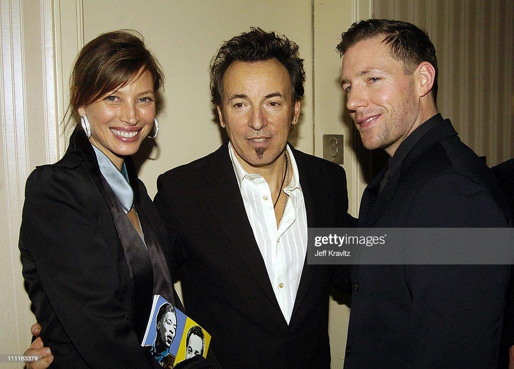 Christy Turlington, Bruce Springsteen and Edward Burns