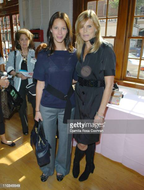 Christy Turlington Burns and Mariel Hemingway attend The Ladies Who Launch Live Networking Event at the Altman Building on October 17th 2007 in New...
