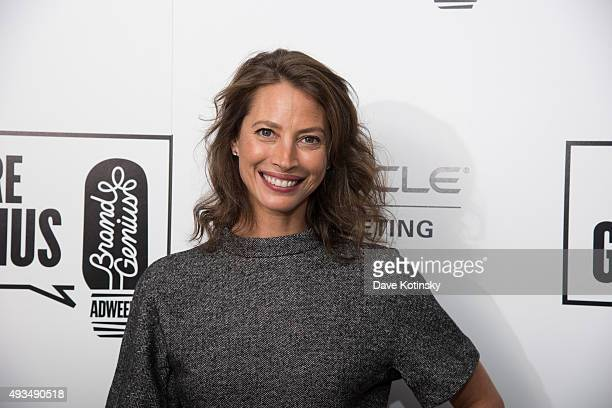 Christy Turlington Burns arrives at Adweek's Brand Genius 2015 at Guastavino's on October 20 2015 in New York City