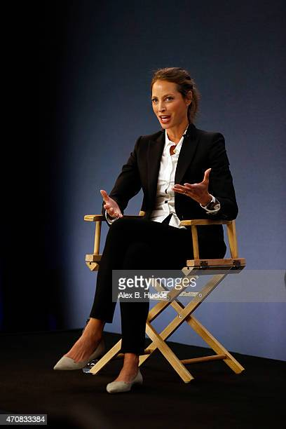 Christy Turlington Burns at the Apple Store Regent Street on April 23 2015 in London England