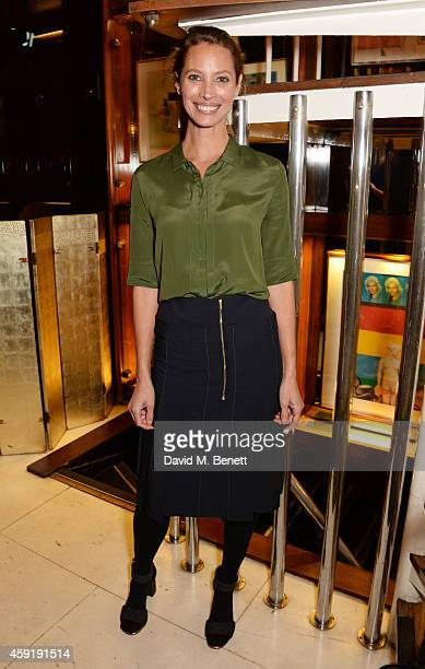 Christy Turlington Burns attends a dinner hosted by PORTER in honour of cover girl Christy Turlington Burns and her charity Every Mother Counts at Mr...