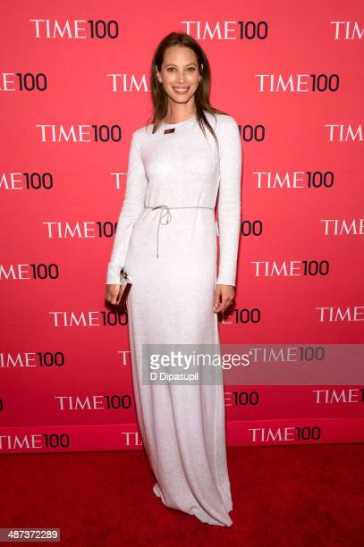 Christy Turlington Burns attends the 2014 Time 100 Gala at Frederick P Rose Hall Jazz at Lincoln Center on April 29 2014 in New York City