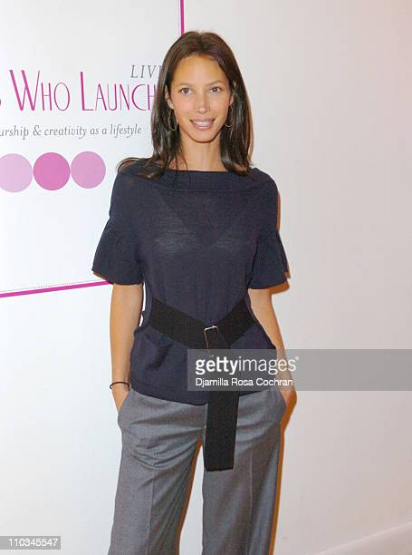 Christy Turlington Burns attends The Ladies Who Launch Live Networking Event at the Altman Building on October 17th 2007 in New York City New York