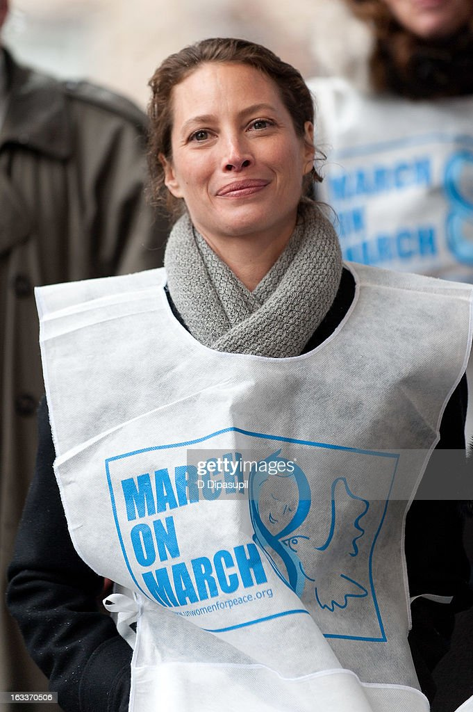 <a gi-track='captionPersonalityLinkClicked' href=/galleries/search?phrase=Christy+Turlington&family=editorial&specificpeople=207046 ng-click='$event.stopPropagation()'>Christy Turlington</a> Burns attends the March On March 8 at the United Nations on March 8, 2013 in New York City.