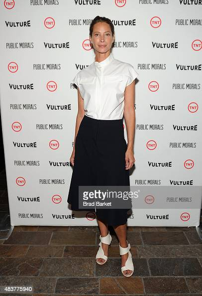 Christy Turlington Burns attends The NYMag Vulture TNT Celebrate the Premiere of 'Public Morals' on August 12 2015 in New York City