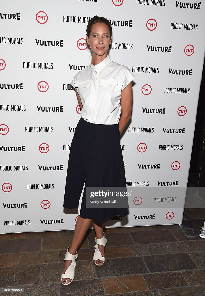 Christy Turlington Burns attends the 'Public Morals' New York Screening at Tribeca Grand Screening Room on August 12, 2015 in New York City.
