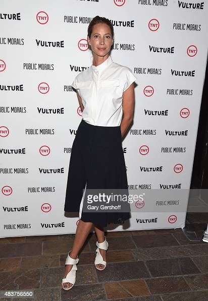 Christy Turlington Burns attends the 'Public Morals' New York Screening at Tribeca Grand Screening Room on August 12 2015 in New York City