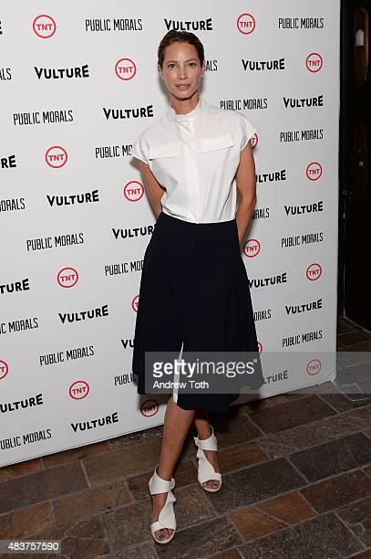 Christy Turlington Burns attends the 'Public Morals' New York series screening at Tribeca Grand Screening Room on August 12 2015 in New York City