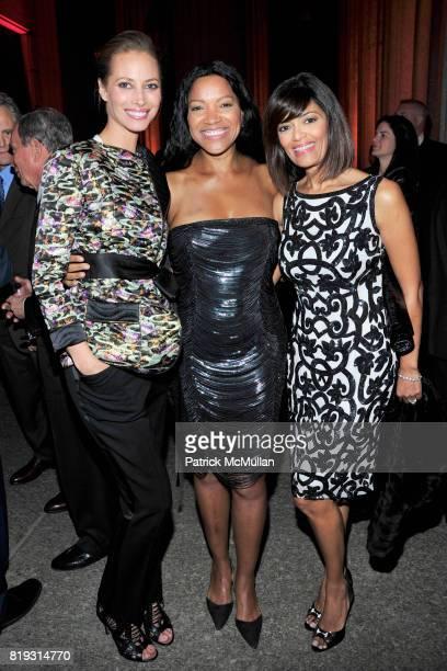Christy Turlington Burns Grace Hightower and Prudence Inzerillo attend VANITY FAIR TRIBECA FILM FESTIVAL Opening Night Dinner Hosted by ROBERT DE...