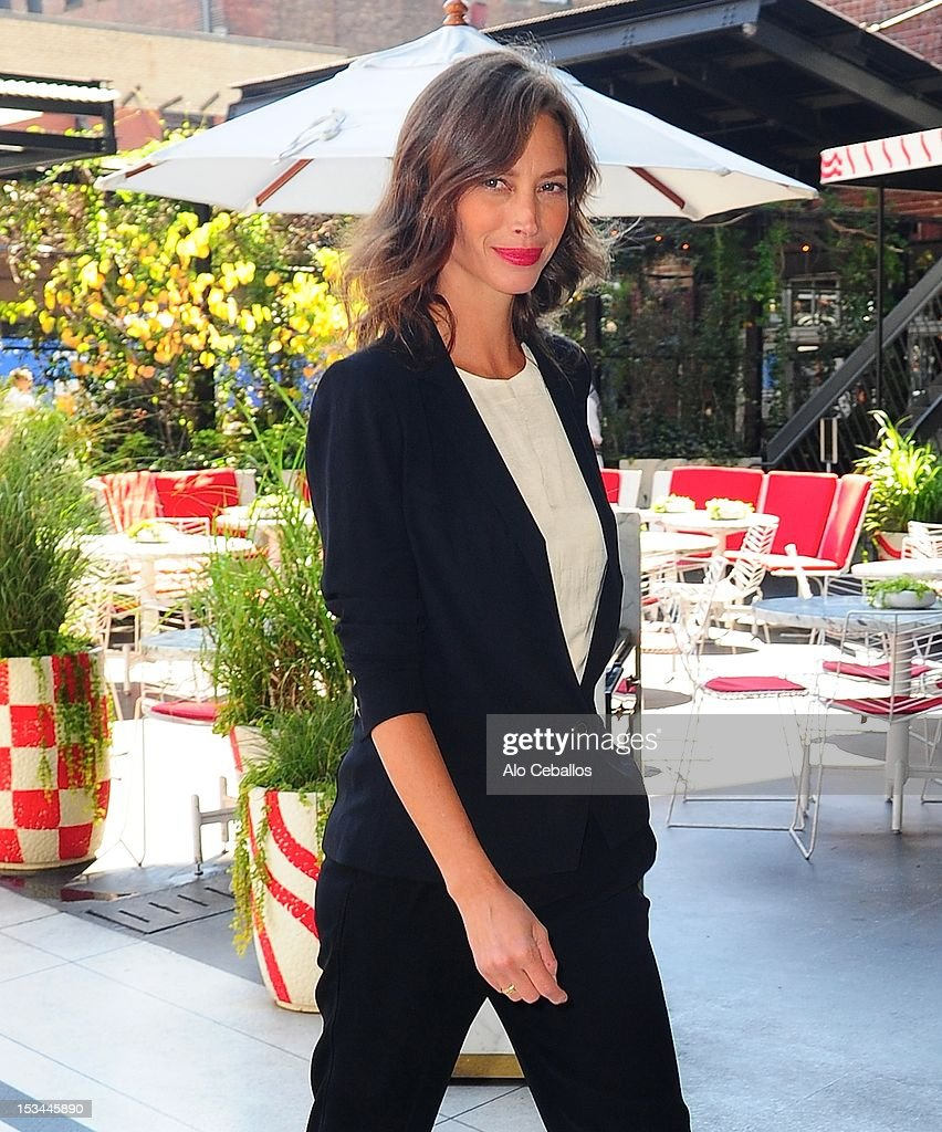 Christy Turlington Burns is seen in the Meat Packing District, Manhattan on October 5, 2012 in New York City.