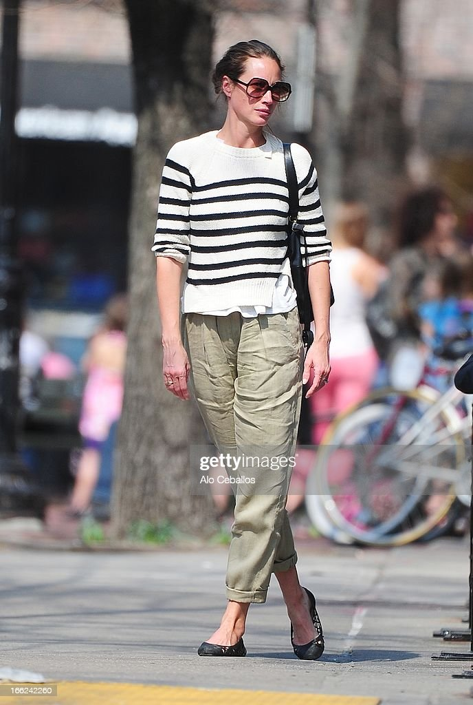 Christy Turlington Burns is seen in the West Village on April 10, 2013 in New York City.