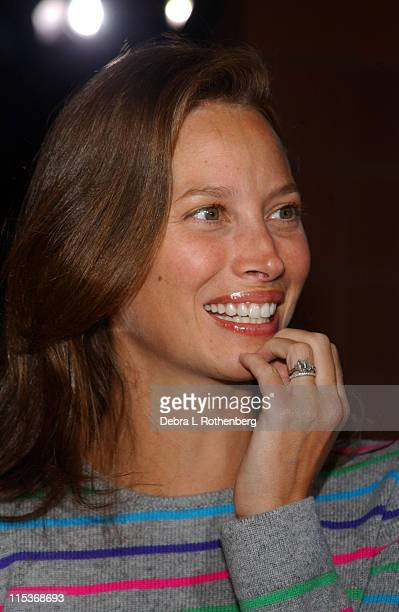 Christy Turlington during 2004 US Open Red Carpet Event for Celebrities and VIPs During Women's Single Finals at USTA National Tennis Center in New...
