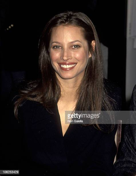 Christy Turlington during Calvin Klein Introduces Women's Underwear Collection February 7 1995 at Bloomingale's in New York City New York United...