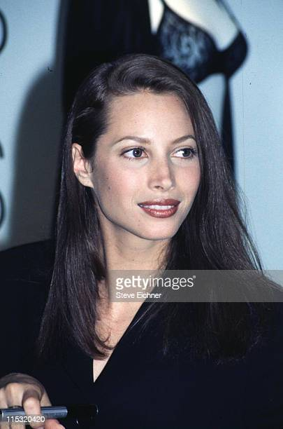 Christy Turlington during Calvin Klein Lingerie Launch at Macy's Herald Square in New York City New York United States