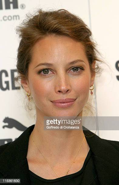 Christy Turlington during Christy Turlington Launches Her Spring 2005 Puma Nuala Range at Selfridges in London Great Britain