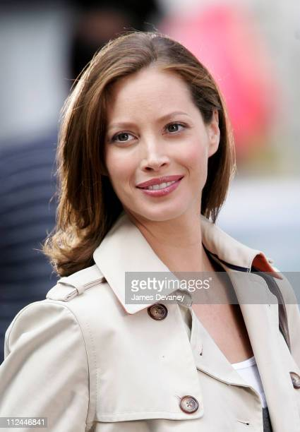 Christy Turlington during Christy Turlington On Set of Maybeline Commercial at Madison Avenue in New York City New York United States