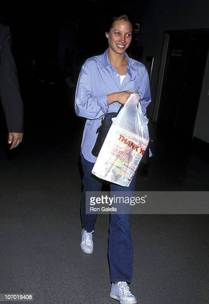 Christy Turlington during Christy Turlington Sighting at Los Angeles International Airport April 19 1995 at Los Angeles International Airport in Los...