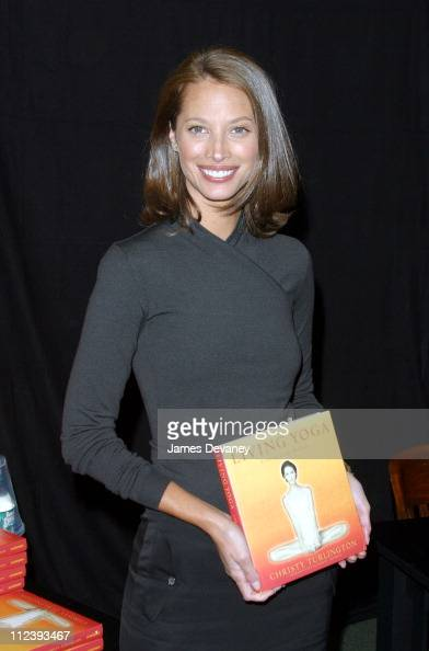 Christy Turlington during Christy Turlington signs copies of 'Living Yoga' at Barnes Noble in New York City New York United States