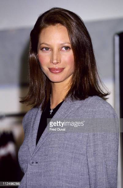 Christy Turlington during Christy Turlington unveils Calvin Klein Advert at Selfridges Department Store in London United Kingdom