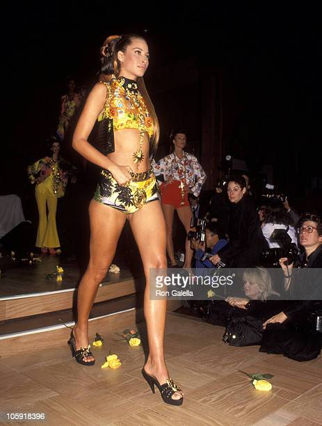 Christy Turlington during Versace Hosts Rock N' Rule Benefit for AmFAR at Park Avenue Armory in New York City New York United States