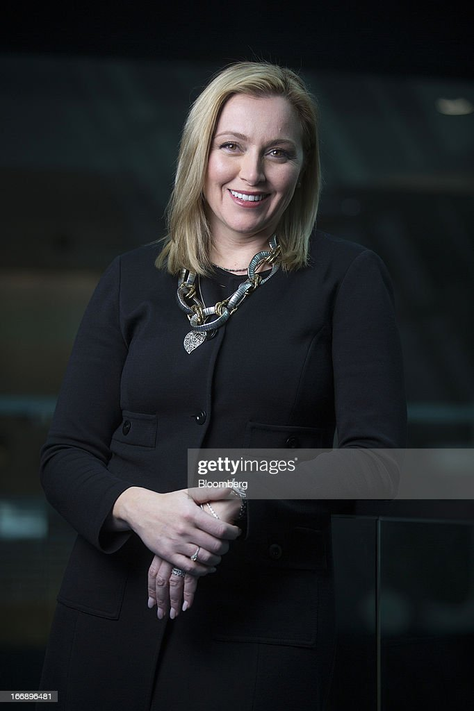 Christy Wyatt, chief executive officer of Good Technology Inc., poses for a photograph following a Bloomberg Television interview in London, U.K., on Thursday, April 18, 2013. Sunnyvale, California-based Good Technology Inc. is a a U.S. provider of wireless device security technology. Photographer: Simon Dawson/Bloomberg via Getty Images