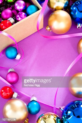 Purple Christmas Decorations Stock Photos and Pictures | Getty Images