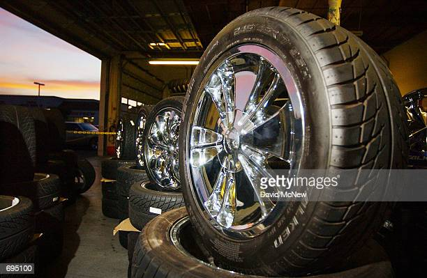 Chrome 20 inch rims are displayed at a RentAWheel store January 25 in Santa Ana CA Despite the recent economic downturn custom wheel consumers...