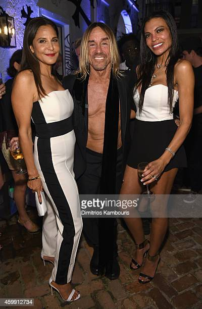 Chrome Hearts Founder Laurie Lynn Stark Musician Iggy Pop and Nina Alu attend Chrome Hearts Celebrates The Miami Project During Art Basel With Zoe...