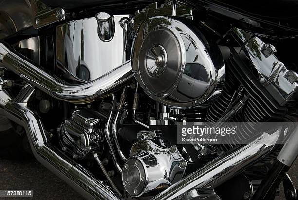 Chrome Motorcycle engine