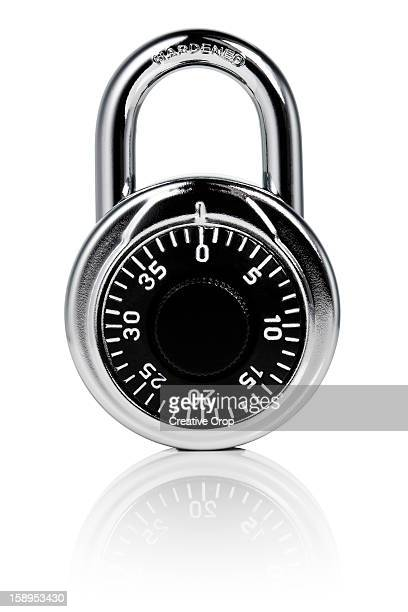 Chrome number dial padlock