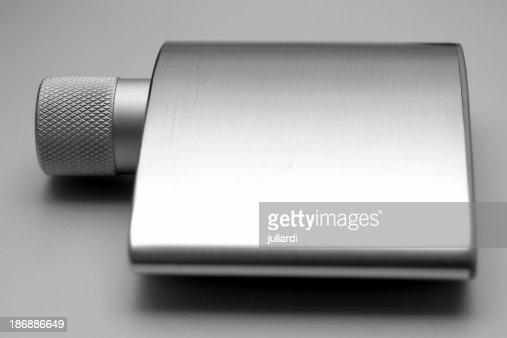 chrome perfume or fragrance bottle