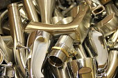 household scrap items made of chrome plated brass