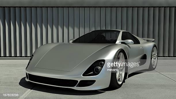 Chrom Sports Car