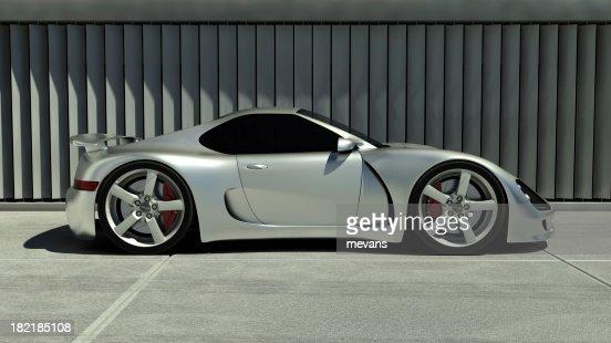 Chrome Sports Car