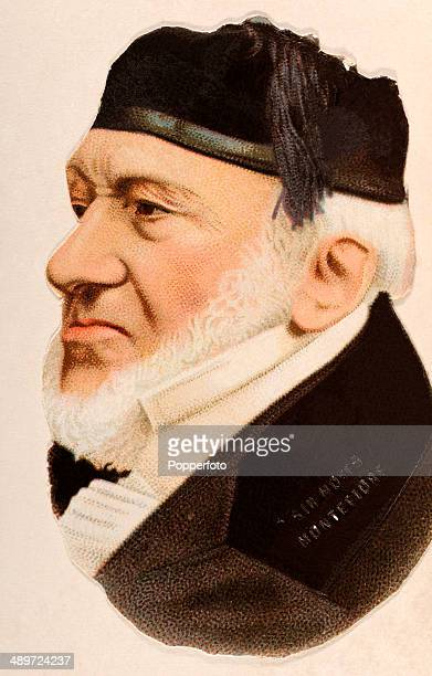 A chromolithograph of Sir Moses Haim Montefiore 1st Baronet published in London circa 1880
