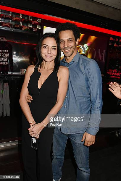 TV chronicler Sandra Zeitoun de Matteis and Tomer Sisley attend Bruno Mars Official After Show at VIP Room Theater on November 30 2016 in Paris France