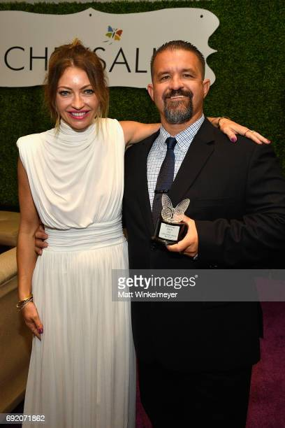 Chrysalis Butterfly Ball Cochair Rebecca GayheartDane and Honoree Raymond Davis at the 16th Annual Chrysalis Butterfly Ball on June 3 2017 in Los...