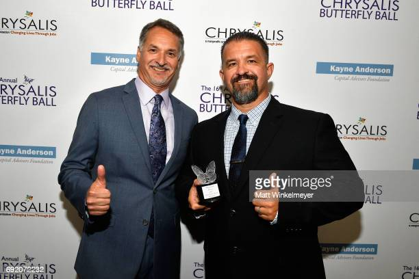 Chrysalis CEO Mark Loranger and Honoree Raymond Davis at the 16th Annual Chrysalis Butterfly Ball on June 3 2017 in Los Angeles California